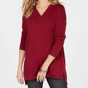 Plum Tart High-low Over-sized Tunic Top